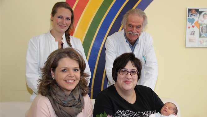 Neujahrs-Baby Samuel Peter in der RoMed Klinik Wasserburg am Inn