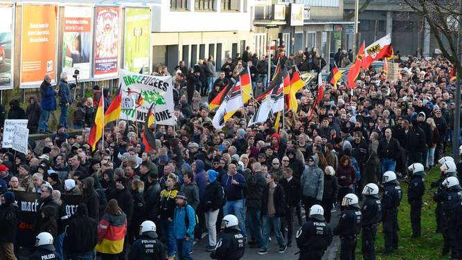Köln, Pegida, Demonstration