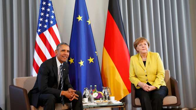 Angela Merkel, Barack Obama