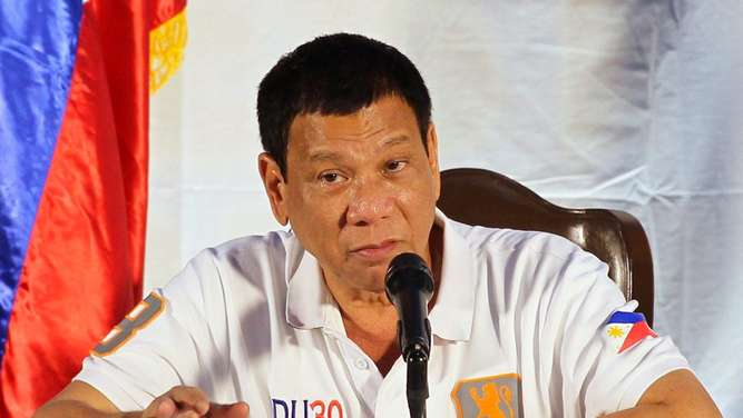 President Rodrigo Duterte threatened to separate from the United