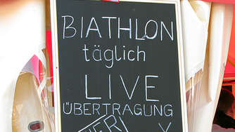 Biathlon-Public Viewing in Reit im Winkl