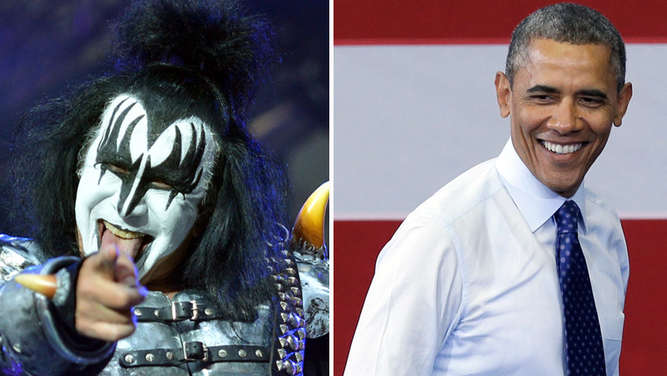 Gene Simmons Barack Obama