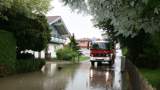 Heftiges Unwetter in der Region