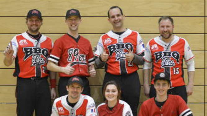 BBQ Softball Meister Team der Bad Aibling 89ers