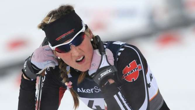 Denise Hermann from Germany reacts after the Women&#39s 10 km Individual Classic Cross Country Skiing competition at the Nordic Skiing World Championships in Oslo, Norway, 28 February 2011. Photo:Patrick Seeger dpa  +++(c) dpa - Bildfunk+++