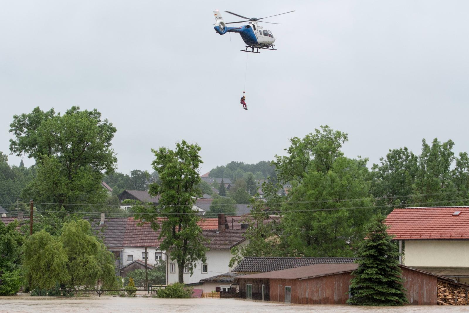 überschwemmung Rottal Inn