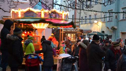 Der Wasserburger Christkindlmarkt am 4. Advent