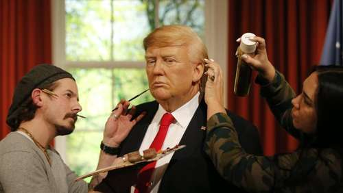 Wachs-Trump bei Madame Tussauds in London