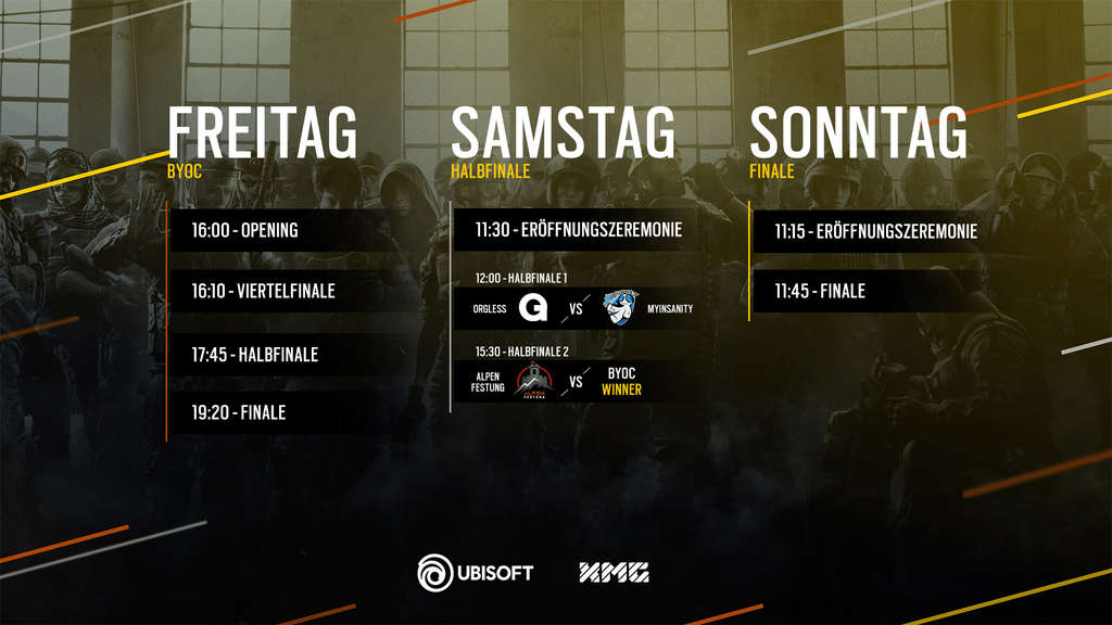 Rainbow Six Siege Clash of Nations: Der Zeitplan im Überblick.