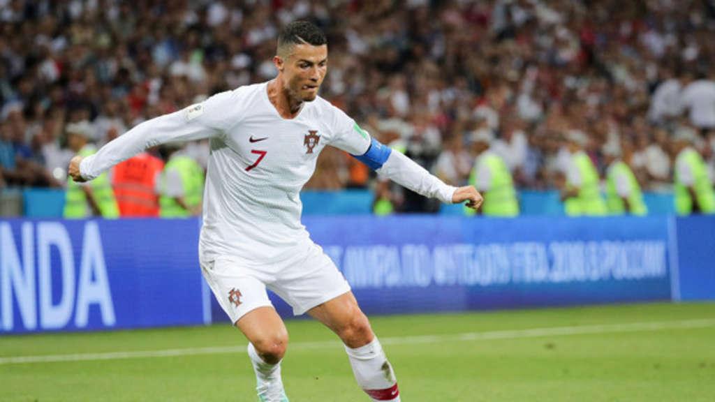 Fußball: Portugiesische Nationalmannschaft um Cristiano